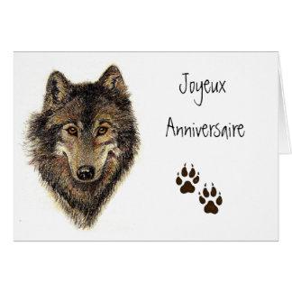 Joyeux Anniversaire, Wolf, Wolven, Dier Wenskaart