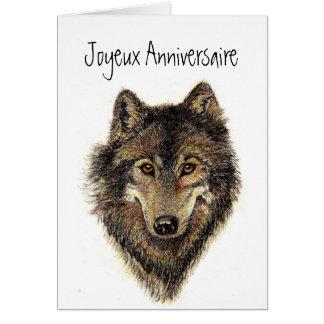 Joyeux anniversaire, Wolf, Wolven, Wildernis, Wenskaart