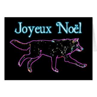 Joyeux Noёl - Elektrische Wolf Kaart