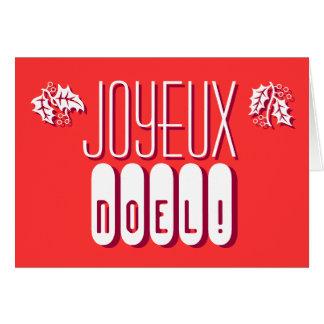 Joyeux Noel Carte DE Voeux Briefkaarten 0