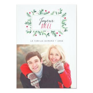 Joyeux Noël Feuillage Peint | Carte DE Noël 12,7x17,8 Uitnodiging Kaart