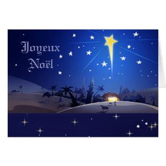 Joyeux Noël. Franse Kerstkaart Wenskaart