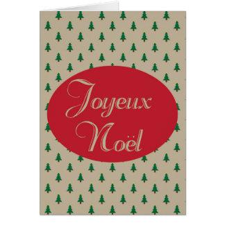Joyeux Noel - Franse Kerstkaarten Wenskaart