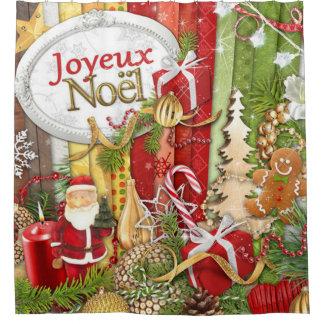 Joyeux Noel (Franse Vrolijke Kerstmis) Douchegordijn