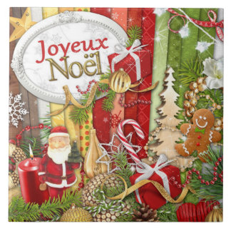Joyeux Noel (Franse Vrolijke Kerstmis) Keramisch Tegeltje