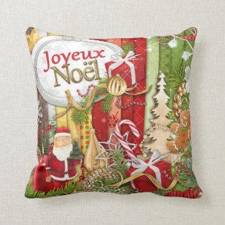 Joyeux Noel (Franse Vrolijke Kerstmis) Sierkussen