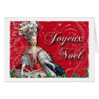 Joyeux Noel Marie Antoinette Christmas Notitiekaart