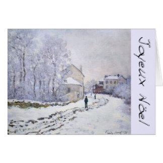 Joyeux Noel met Groet van Kerstmis van C Monet de Briefkaarten 0