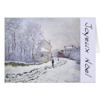 Joyeux Noel met Groet van Kerstmis van C Monet de Wenskaart