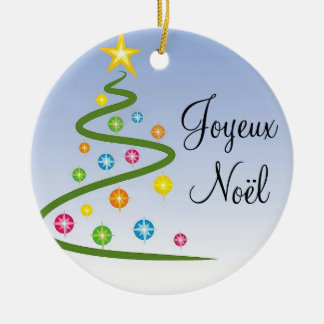 Joyeux Noël Rond Keramisch Ornament