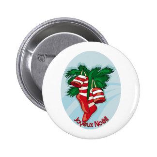 Joyeux Noel Ronde Button 5,7 Cm