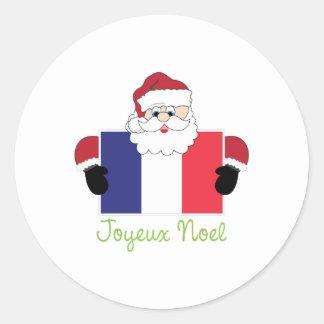 Joyeux Noel Ronde Sticker
