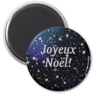 Joyeux Noël! Vrolijke Kerstmis in Franse wf Ronde Magneet 5,7 Cm