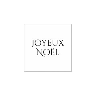 Joyeux Noël, Vrolijke Kerstmis in het Frans, Rubberenstempel