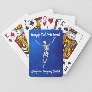 """Joyous Skelet de """"Gelukkige Week van Technologie Pokerkaarten"""