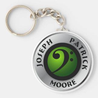 JPM Logo Keychain Basic Ronde Button Sleutelhanger