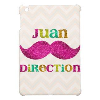 Juan Direction Fake Glitter Mustache iPad Mini Covers