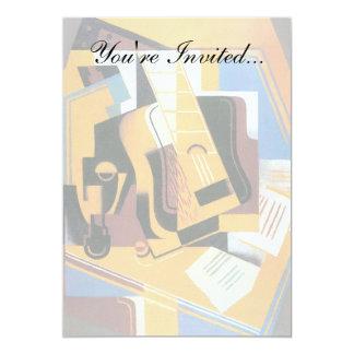 Juan Gris - Foto van het Abstracte Art. van de 12,7x17,8 Uitnodiging Kaart