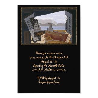 Juan Gris het Open Venster 12,7x17,8 Uitnodiging Kaart