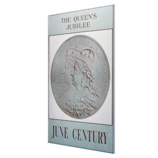 """""""Jubileum 1837-87 van de Koningin"""" (kleurenlitho) Canvas Bedrukken"""