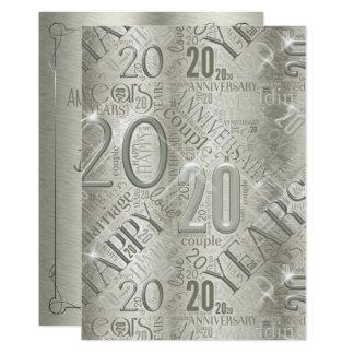 Jubileum 20 Jaar van de Wolk ID267 van Word Kaart