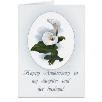 Jubileum voor Dochter, Elegante Calla Lelies Briefkaarten 0