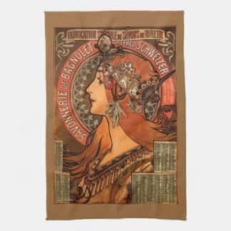Jugendstil Jeweled Dame Kitchen Towel Theedoek