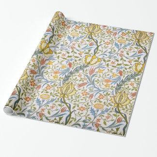 Jugendstil van de Flora van William Morris de Inpakpapier
