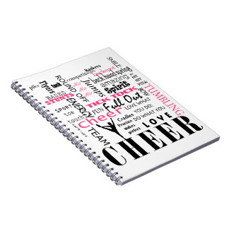juich cheerleading roze en zwarte toe notitieboeken