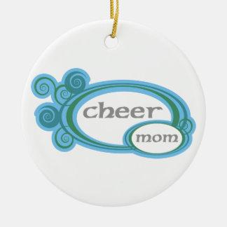 Juich de Werveling van het Mamma toe Rond Keramisch Ornament