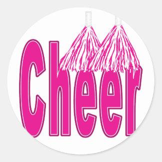 Juich Roze Stickers toe