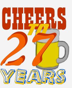 27 Jaar Verjaardag Cadeaus Zazzle Nl