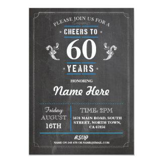 Juicht aan 60 Jaar van de Verjaardag vijftigste Kaart