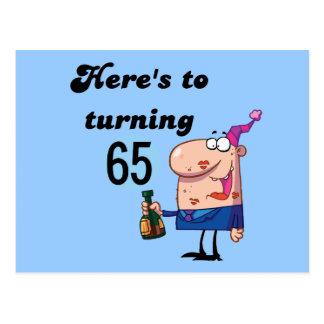 Juicht aan 65 T-shirts en Giften van de Verjaardag Briefkaart