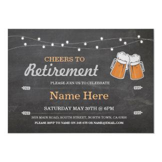 Juicht aan de Bieren van het Krijt van de Partij 12,7x17,8 Uitnodiging Kaart