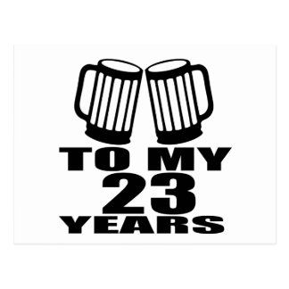 Juicht aan Mijn 23 Jaar Verjaardag toe Briefkaart