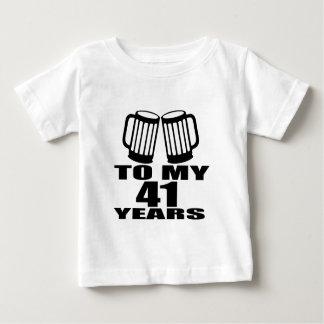 Juicht aan Mijn Design van de Verjaardag van 41 Baby T Shirts
