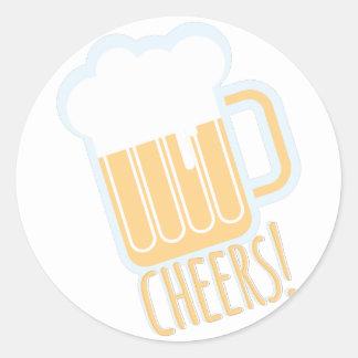 Juicht Bier toe Ronde Stickers