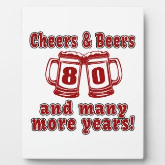 Juicht en Bieren 80 Design van de Verjaardag toe Fotoplaat