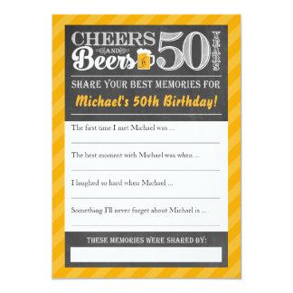 Juicht en Bieren aan 50 Jaar toe • Deel een Kaart 12,7x17,8 Uitnodiging Kaart