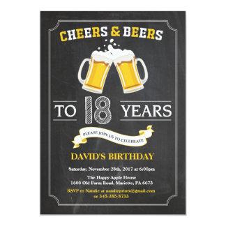 Juicht toe en van Bieren achttiende de Kaart van 12,7x17,8 Uitnodiging Kaart