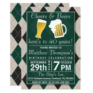 Juicht toe & van Bieren Trendy Groene Partij van 12,7x17,8 Uitnodiging Kaart