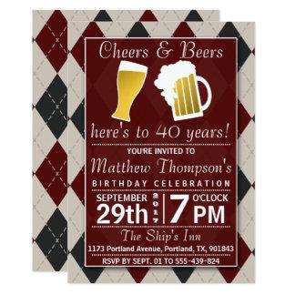 Juicht toe & van Bieren Trendy Rode Partij van de 12,7x17,8 Uitnodiging Kaart