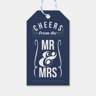 Juicht van M. & Mevr. Wedding Wine Liquor Favor Cadeaulabel