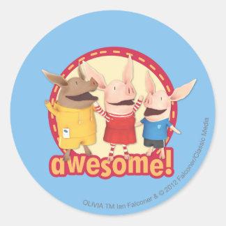 Julian Olivia, Geweldige Ian -! Ronde Sticker