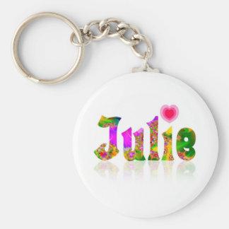 Julie Basic Ronde Button Sleutelhanger