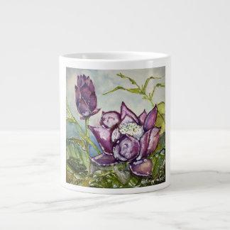 JumboMok van de Waterverf van paars Lotus de Jumbo Mokken