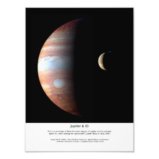 Jupiter en IO Fotoafdrukken