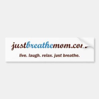 JustBreatheMom.com de Sticker van de Bumper