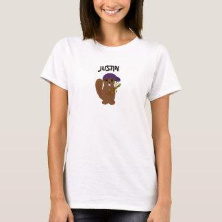 Justin Cartoon Beaver T Shirt